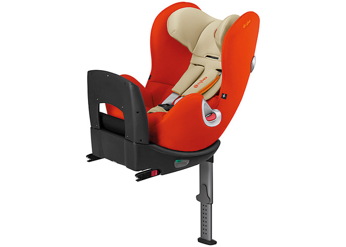 The base rotates 360 degrees so you can move baby in and out of the car seat with ease