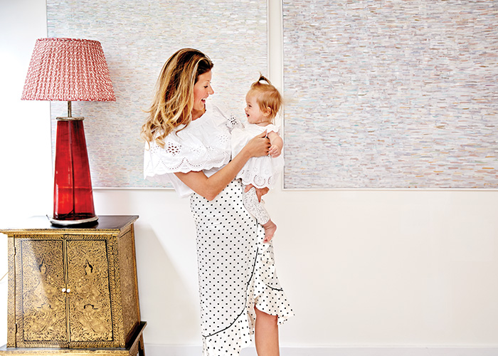 At home with designer and new mum Eddie Harrop