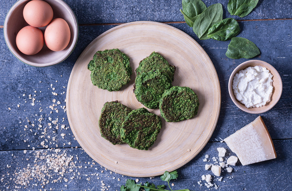 spinach & ricotta cakes