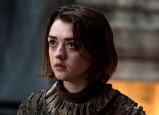 Maisie Williams playing Arya Stark in Game of Thrones