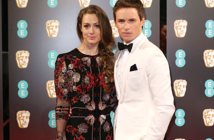 Eddie Redmayne and wife Hannah Bagshawe at the 2017 BAFTAs at the Royal Albert Hall