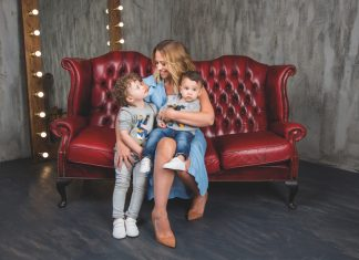Kimberley Walsh and her sons