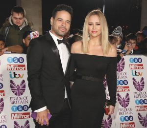 Kimberley Walsh with husband