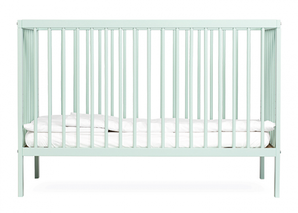 Mokee mini mint green cot