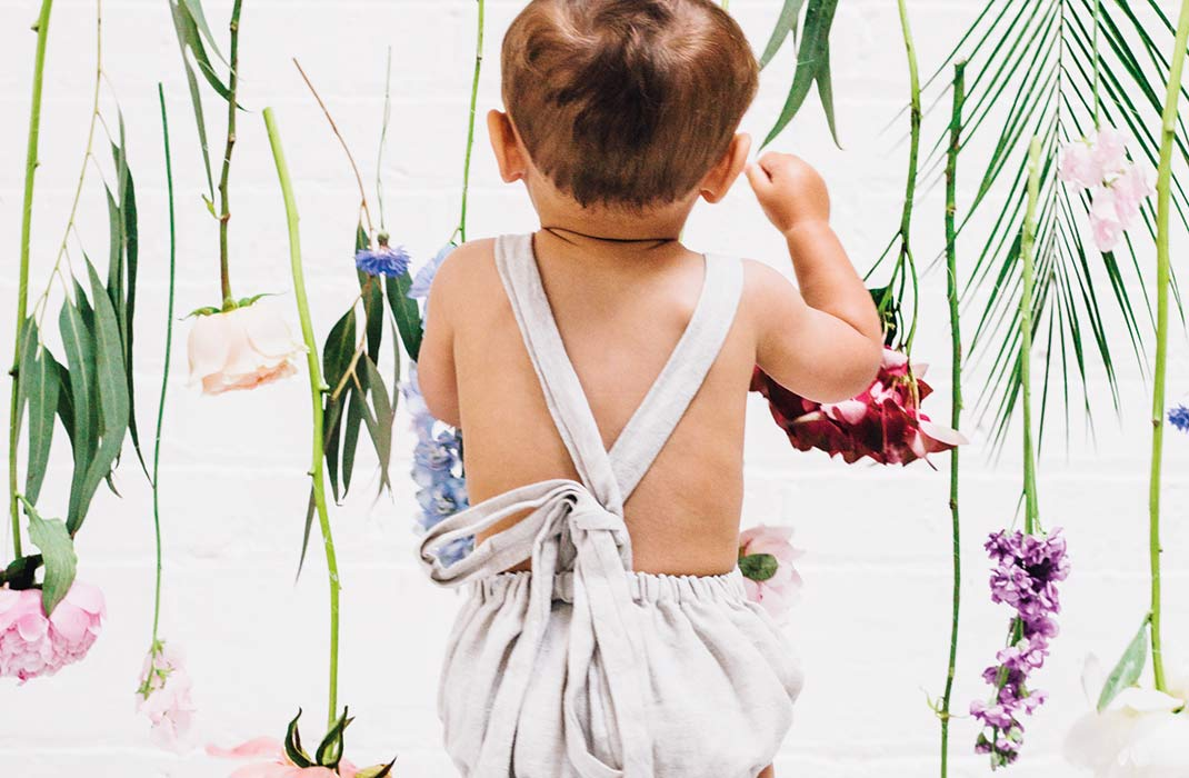 Baby London magazine floral fashion shoot