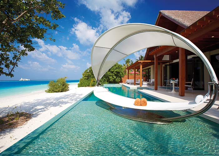 Niyama private islands Maldives beachfront hotel pool