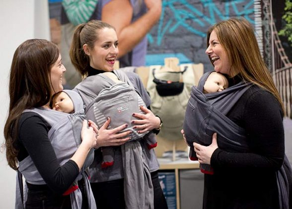 Baby carriers at The Baby Show