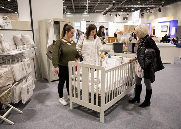 Cot at The Baby Show