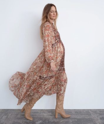 zara floaty boho dress