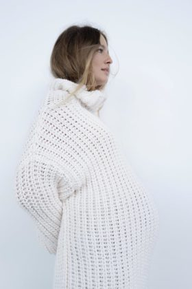 zara maternity cream knit oversized jumper
