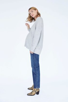 zara maternity jumper and jeans