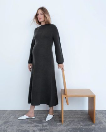 zara maternity knit dress