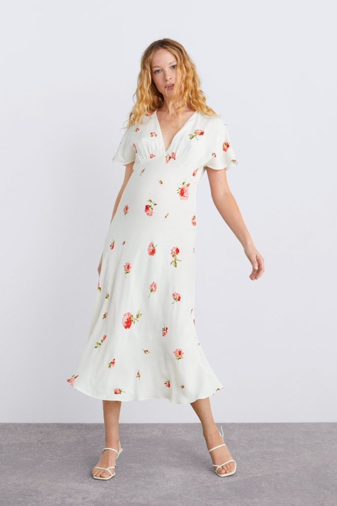 zara-uk-maternity-white-print-dress