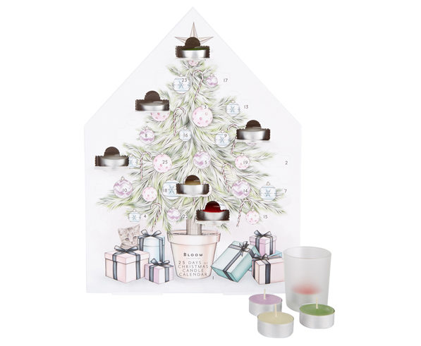 Superdrug advent calendar 2018BLOOM COLLECTION 25 DAYS OF CANDLES CALENDAR