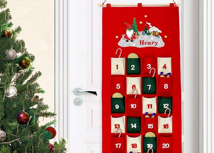 Born Gifted felt advent calendar