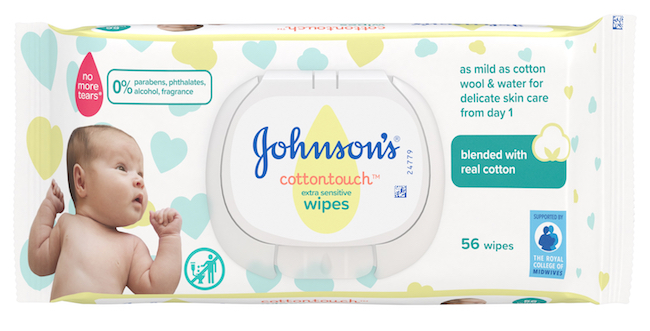 Johnson's Baby CottonTouch wipes
