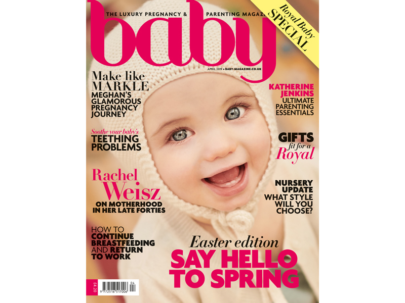 Baby magazine April 2019 cover Baby magazine latest issue: April 2019