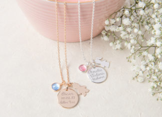 Merci Maman New Baby necklace lifestyle Win a Bespoke necklace from Merci Maman