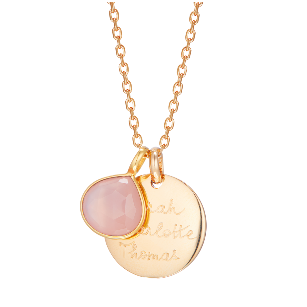 Merci Maman Personalised Gemstone Necklace £129 mother's day
