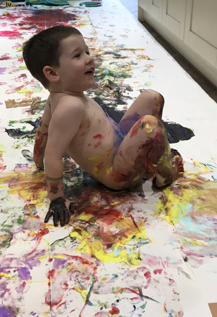 toddlers-during-lockdown-Modern day picasso
