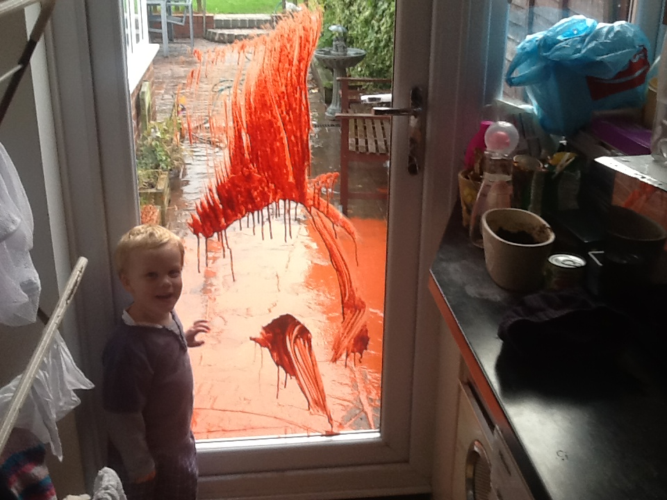 toddlers-during-lockdown-glass-painting