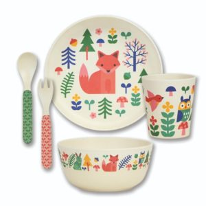 Petit Collage Bamboo Dinner Set - Forest