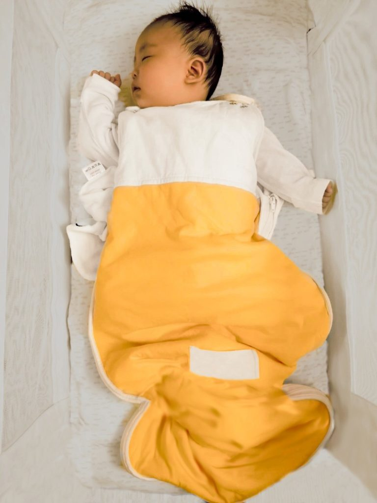 baby sleep essentials yellow bag - little earth baby