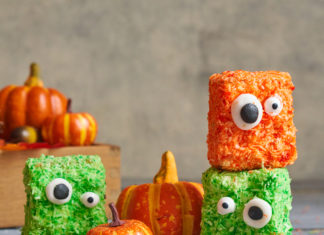 Halloween Recipes Mini Monster Cakes